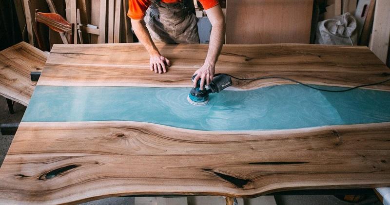 как сделать стол из дерева и эпоксидной смолы своими руками